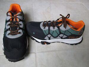 NEW Timberland Garrison Trail Low Hiking Shoes MENS SZ 10 Black Green Orange
