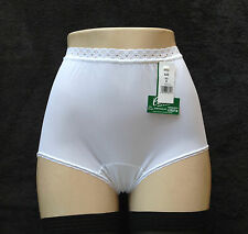 Carole Embossolon 100% Nylon Lace Band White Brief Size 7/Large