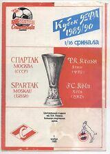 EC III 89/90 Spartak Moskau / Moscow - 1. FC Köln, 01.11.1989 ( white/red/blue)