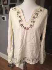 Lucky Brand Rose Embroidered Top ASO Bella Swan Twilight sz L