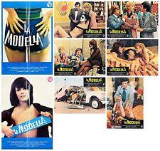 LA MODELLA SET FOTOBUSTE 6+2 SOGG RENATO ZERO MERENDA DI FRAGOLE 1974 LOBBY CARD