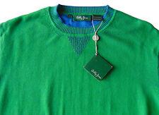 Men's BOBBY JONES Emerald Green Cotton Crew Neck Sweater Medium M NWT NEW Nice!