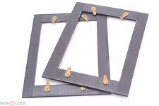 ✅ FRAME ADAPTERS 9x12CM TO 6.5X9CM FOR WOODEN GLASS PLATE HOLDERS 2 ANTIQUE WOOD