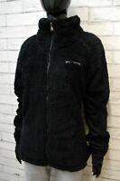 COLUMBIA Giacca Vintage Donna Taglia XL Cappotto Giubbotto Nero Jacket Woman