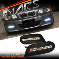 MARS BMW E46 Bumper Bar LED DRL Day-Time Fog Lights Cover for Coupe Sedan & M3