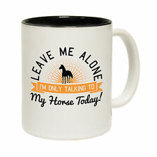 Leave Me Alone Horse Coffee Mug Cup pony xmas funny birthday gift 123t present