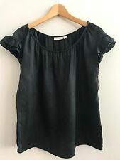 WOMENS OJAYA BLACK TOP - SIZE 10 - AS NEW