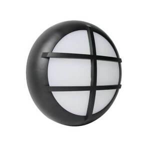 LED Ceiling Wall Light Black 2D Bulkhead Photocell 12W IP65 CCT Switchable Grid