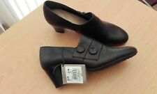 TLC BHS Ladies Leather Shoes Black Size 5 NEW