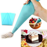 Silicone Reusable Icing Piping Cream Pastry Bag Cake Decorating Tool DIY 3 Size#
