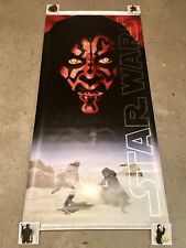 Star Wars Phantom Menace Darth Maul Vinyl Banner Poster