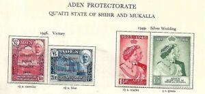 Aden-Shihr & Mukalla-1946/49 '' Victory & Silver Wedding Sets  ''- LMM - SG12/15
