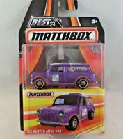 Matchbox Best of '65 Austin Mini Van Purple Die Cast NIP 1:64 Series 1 MB713