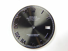Rolex Mens Datejust Stainless Steel Dark Gray Color Roman Numeral Dial