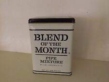 VINTAGE  PIPE MIXTURE TOBACCO Tin Kentucky Club Blend of the Month Wheeling W Va