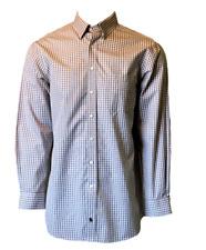Hart Schaffner Marx Mini-Check Mens Button-Down No-Iron Pima Cotton Dress Shirt