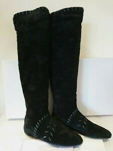 Jimmy Choo black suede over the knee boots Size 3 New with Box