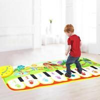 Kids Music Piano Toy Singing Game Mat Children Keyboard Carpet Blanket Pad