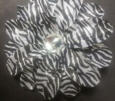 "NEW 5"" Zebra Lily Flower Clip Baby Toddler Girls Hair Bow Reborn Doll Fascinator"