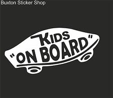 KIDS ON BOARD Vans Surf Car Vinyl Decal Sticker EURO JDB DUB VW Funny Jap