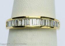 0.55ct Baguette Diamond Half-CIrcle 14K Yellow Gold Wedding Anniversary Band