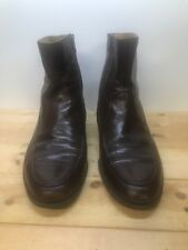 Florsheim Royal Imperial Brown Leather Zipper Ankle Boots Men  9 1/2 EEE Italy