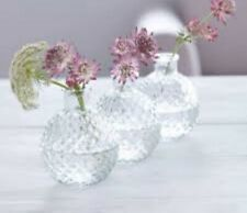 3 Clear Glass Round Bud Vases Mini Ball Vintage Gisela Graham Wedding Decoration