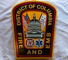 Fire Department DC Columbia 3D routed carved wood patch plaque sign Custom