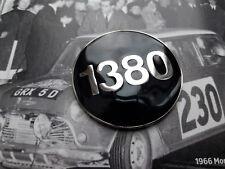 CLASSIC MINI COOPER MPI BLACK ENAMEL 1380 BADGE INSERT RARE NOS RACE MED WORKS S