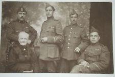 01B24 ANCIENNE CPA CARTE POSTALE PHOTO GROUPE SOLDAT BELGE BELGIQUE 14/18 WWI