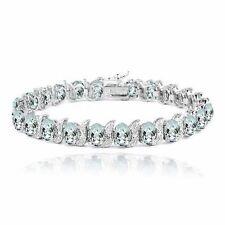Markenlose Echte Edelstein-Armbänder im Tennis-Stil mit Diamant