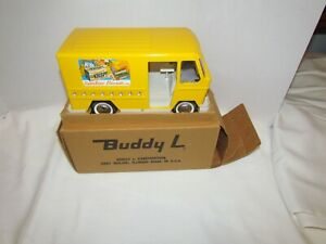 VINTAGE PRESS STEEL TOY ADVERTISING TRUCK BUDDY L SUNSHINE DELIVERY VAN 12.5""