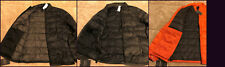 Abercrombie NWT Mens Lightweight Down Puffer Jacket Black Camo Orange S M L XL