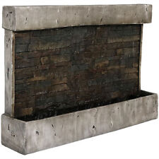 Rustic Antique Style Outdoor Polyresin Patio Backyard Wall Waterfall Fountain