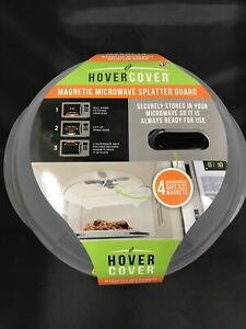 """""""As Seen On TV"""" Hover Cover, Magnetic Microwave Splatter Guard, Clear"""