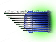 10 x Wolframelektrode Grün 2,4 x 175mm WIG Argon Thungsten Wolframelektroden