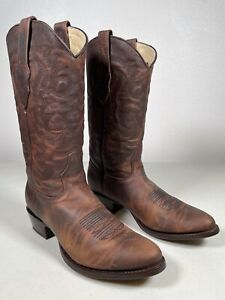 Men's Los Altos Boots Genuine Walnut Rage Bovine Leather Handmade 9.5 659940