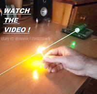 Powerful Green Laser Pointer Pen Focusable Beam Light 532nm Wicked Burning Lazer