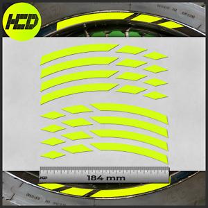 Fluorescent Yellow Motorcycle Wheel Dashes Stickers rim tape Husqvarna 701