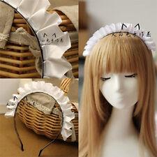 Cute Handmade Lolita ACGN Adorable Girl Maid Cosplay KC Headband Hair Band