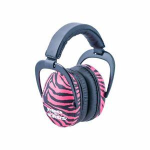 Pro Ears - Ultra Sleek - Hearing Protection - NRR 26 - Ear Muffs - Pink Zebra