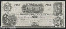 g743 USA 5 dollars 1835 Bank Of Washtenaw - Ann Arbor, Michigan