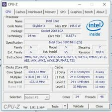 Intel Xeon Platinum 8160 ES QL1K 1.8GHz 24Core LGA3647 145W Processor CPU