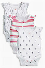ВNWT NEXT Babygrows Playsuits • Pink Bodysuits 3pk • 100% Cotton • 1 Month
