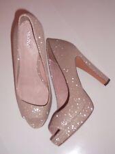 Ladies Shoes Size 5.5 Sparkly Glitter Court Platform Peep Toe Next BNWT