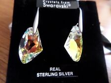 Crystal, Silver Drop Earrings made with Genuine Swarovski elements