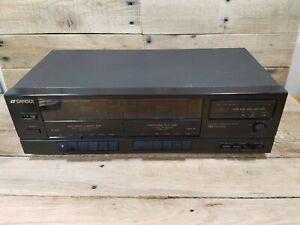 VINTAGE SANSUI Stereo Double Cassette Tape Deck Recorder Player D-590W