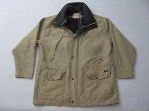 Vintage Woolrich Jacket Mens Large Tan Wool Lining Rugged Outdoorwear Barn Coat