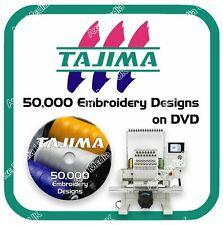 50,000 Tajima Embroidery design files DST on DVD