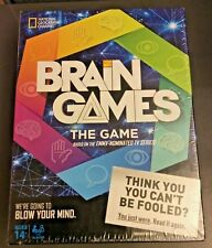 National Geographic Brain Games The Game w/ 192 Challenge Cards Sealed Ages 14+